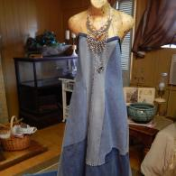 20203 Michael J Bleached Denim Dress
