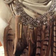 Pearls, Horns, Shell Casings, Feathers - Necklace